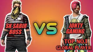 SK Sabir Boss vs. Jonty gaming