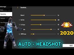 Free Fire Auto-headshot setting