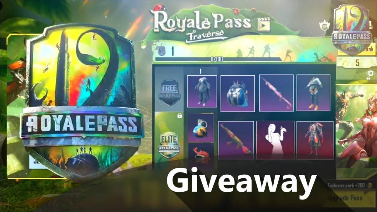 Season 19 Royal Pass Giveaway | 5 PUBG Mobile Royal Pass for Free